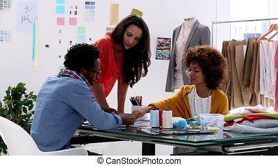 Fashion designers working together