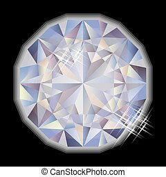 Fashion Diamond gemstone, vector