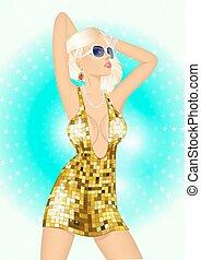 fashion disco girl