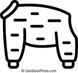 Fashion dog cloth icon, outline style