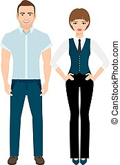 Fashion elegant couple