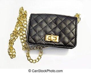 Fashion evening clutch purse bag - Fashionable black and ...