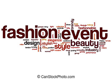 Fashion event word cloud concept