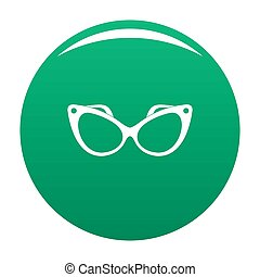 Fashion eyeglasses icon green
