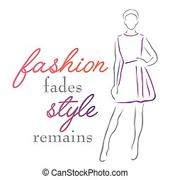 Fashion fades Style remains inspirational quote about ...