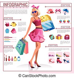 Fashion flat design