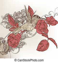 Fashion floral background - Cute vector background in...