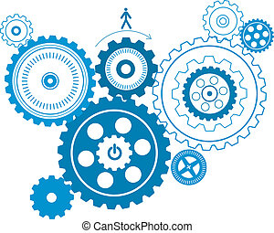 gear pattern - fashion gear pattern design