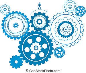 gear pattern - fashion gear pattern design