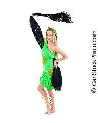 Fashion girl in belly dance dress