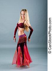 girl in belly dance dress