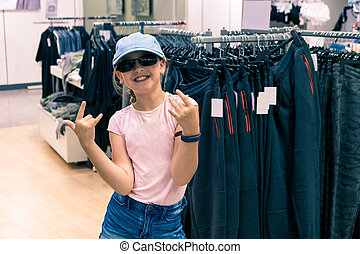 fashion girl in department store
