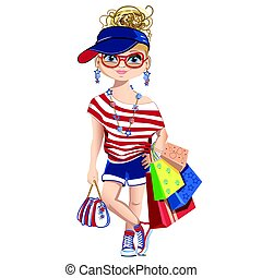Fashion girl on shopping