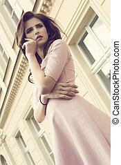 fashion girl portrait outside