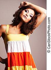 Fashion girl posing