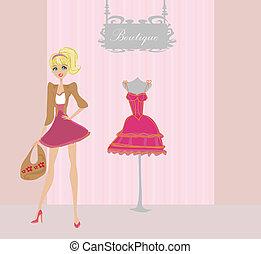 fashion girl Shopping