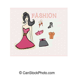 fashion girl Vector Set