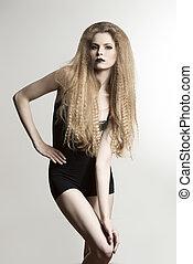 fashion girl with dark make-up