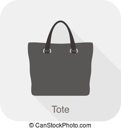 Fashion girl's handbag series, vector, tote bag - Fashion...