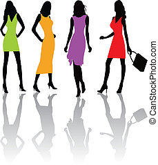 Fashion girls illustratio