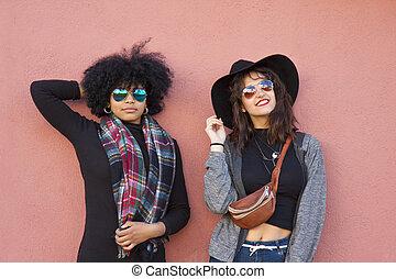 fashion girls on street