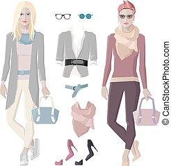 Fashion girls set
