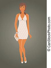 fashion glamor girl in dress