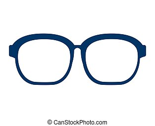 fashion glasses isolated icon