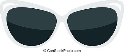 Fashion glasses isolated on white background.