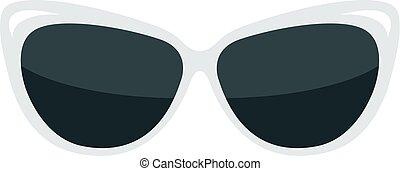 Fashion glasses isolated on white background.