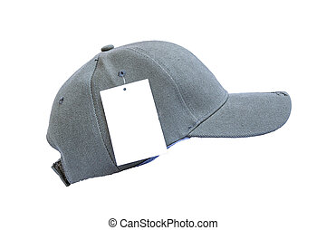 Fashion gray cap isolated on white background.