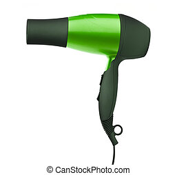 Fashion hair dryer isolated on white