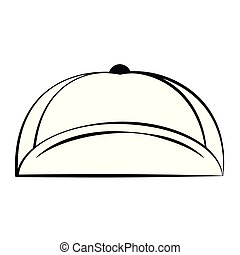 Fashion hat cap accesory in black and white vector...