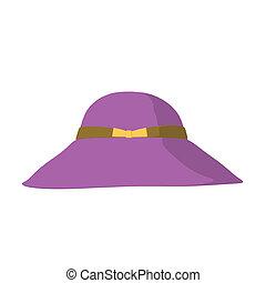 Fashion Hat Illustration - Fashion hat on a white background