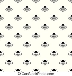 Fashion hat pattern vector seamless repeat for any web...