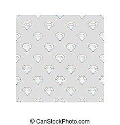 Fashion hipster seamless pattern with diamonds. Rhinestones design tiles