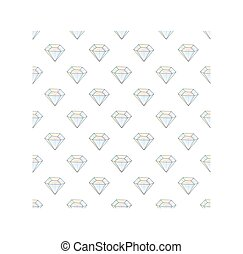 Fashion hipster seamless pattern with diamonds. Rhinestones design tiles