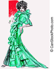 Fashion History: 1970 Mod - A useful hand-drawn inspirated...