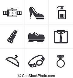 Fashion Icons Set, Vector Design
