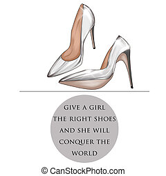 Funny Quotation on White background - Fashion Illustration...