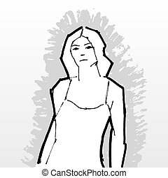 Fashion illustration - vector