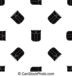 Fashion jeans pocket pattern seamless black