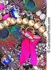 Fashion jewelrys. Fashion jewels as background. Jewelery...
