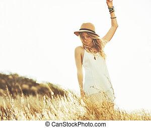 Fashion Portrait of Beautiful Young Woman - Fashion ...