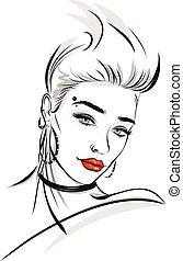 Fashion line art illustration