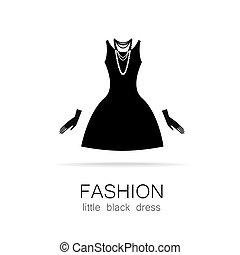 fashion little black dress template - Black dress - classic...