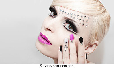 Fashion luxury makeup .