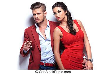 fashion man and woman couple - fashion man and woman, man...