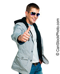fashion man in sunglasses