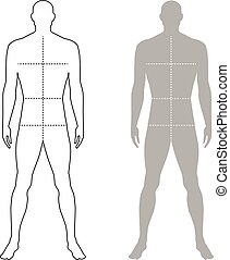 Fashion man outlined template